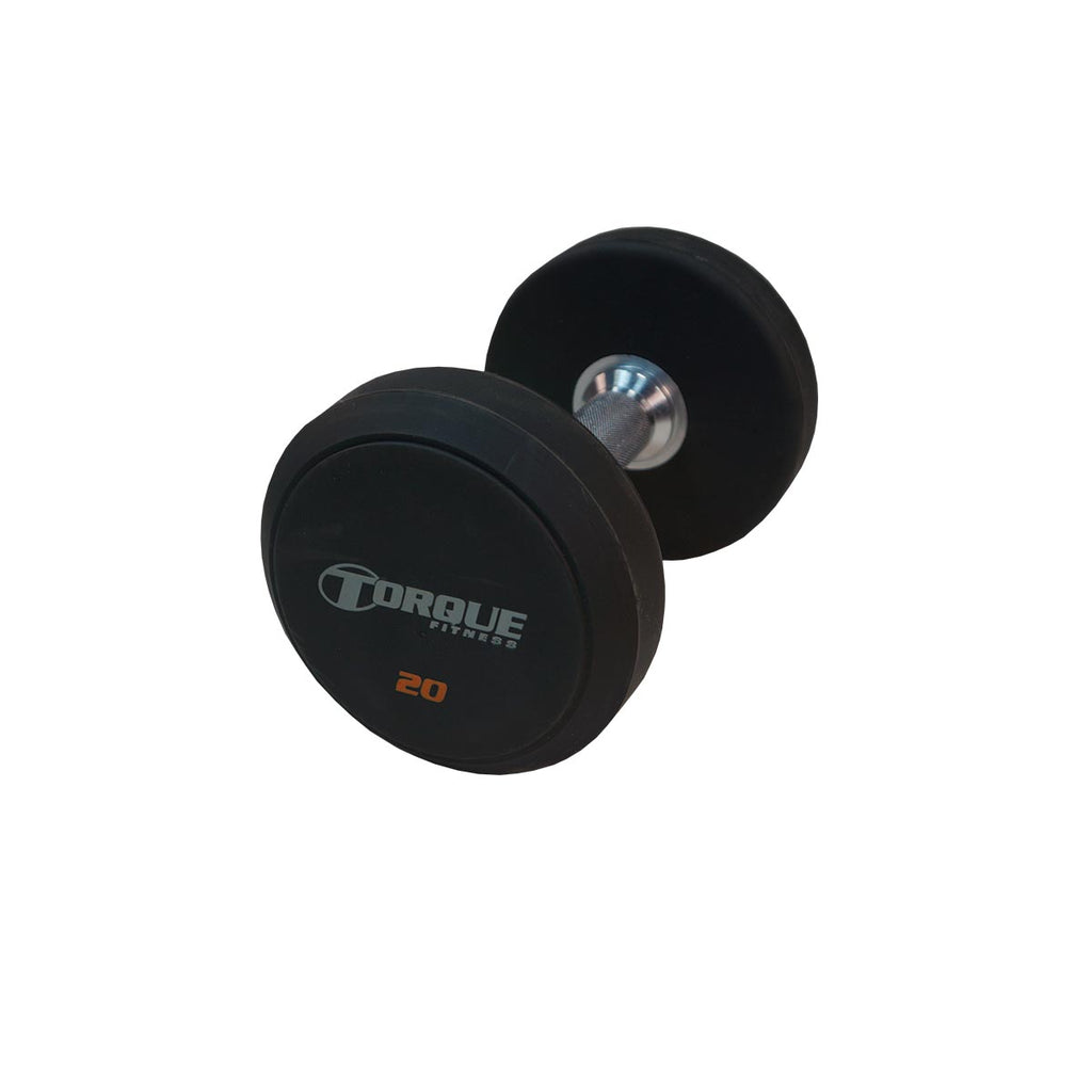 Torque X-SERIES ACCESSORY - Dumbbells, Urethane Pro-Style (20 Pair-5 to 100 LB)-TF Logo