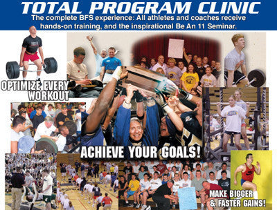 C - BE AN 11 and BFS 1 DAY TOTAL PROGRAM CLINIC and COACHES WRSC