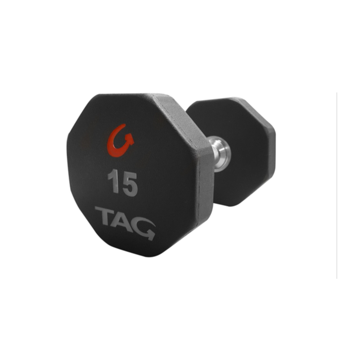 TAG 8 Sided Premium 5lb Ultrathane Dumbbell (pair)