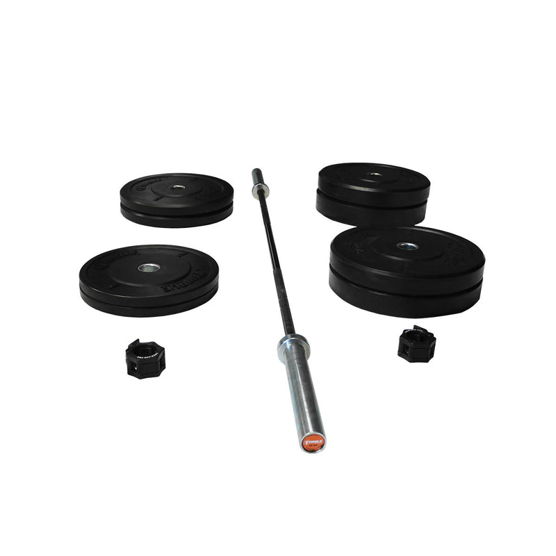 Torque X-SERIES ACCESSORY - Bumper Plate Station Colored Package - 15 KG Bar