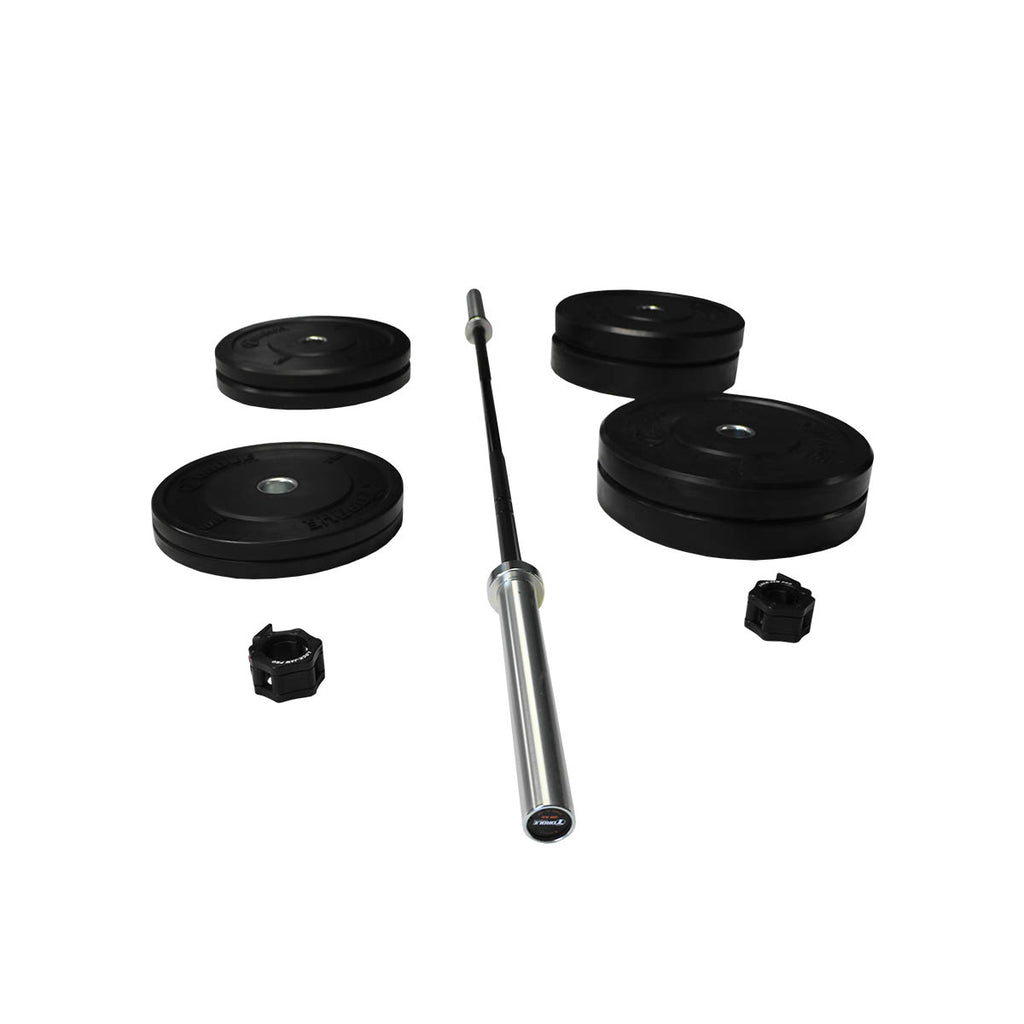 Torque X-SERIES ACCESSORY - Bumper Plate Station Colored Package - 20 KG Bar