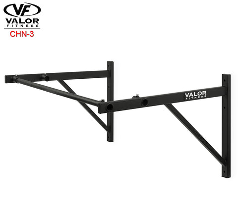 Straight bar chin up wall mount