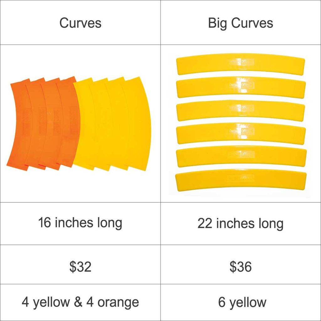 Big Curves - Set of 6