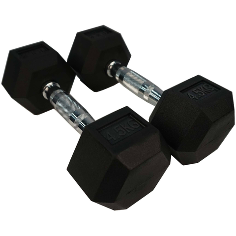 Torque Dumbbells - Rubber Hexagon