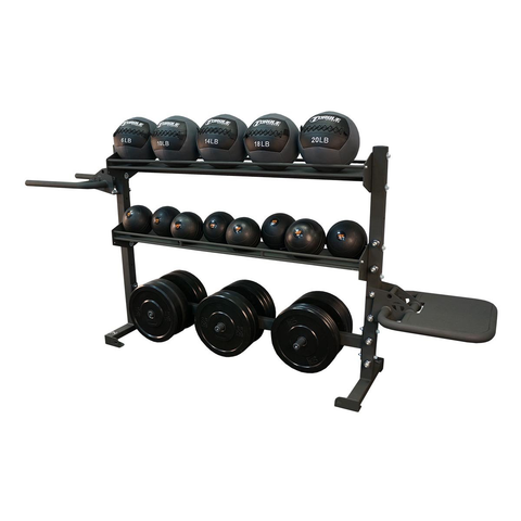6 Foot Combination Storage/Dip/Plyo Rack