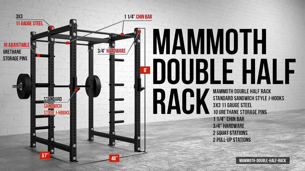 American Barbell 3X3 Series Double Half Rack