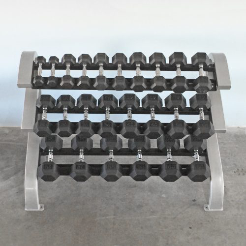Three Tier Hex Dumbbell Rack (Short) - Muscle D