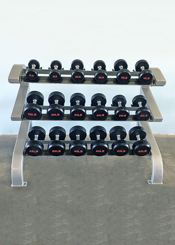 Three Tier 9 Pairs Dumbbell Rack - Muscle D