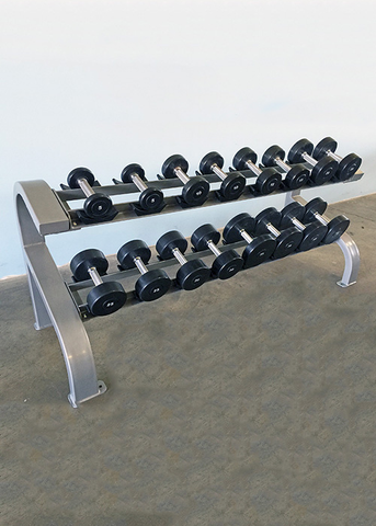 Two Tier 8 Pairs Dumbbell Rack - Muscle D