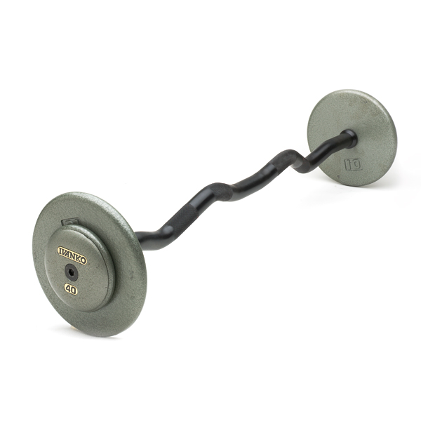 Ivanko  Cast-Iron, Fixed EZ Curl Barbells (gray)