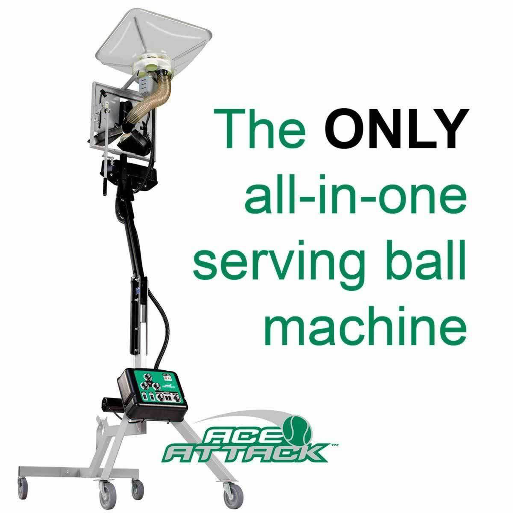 Ace Attack Serving Ball Machine (remote inc.)