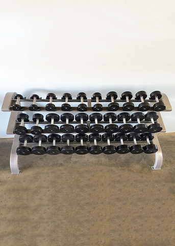 Three Tier 15 Pairs Dumbbell Rack - Muscle D