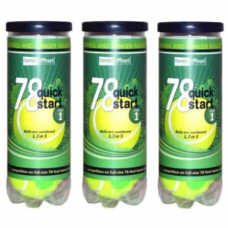 Quick Start 78 Felt - 3 balls/can, 24 cans