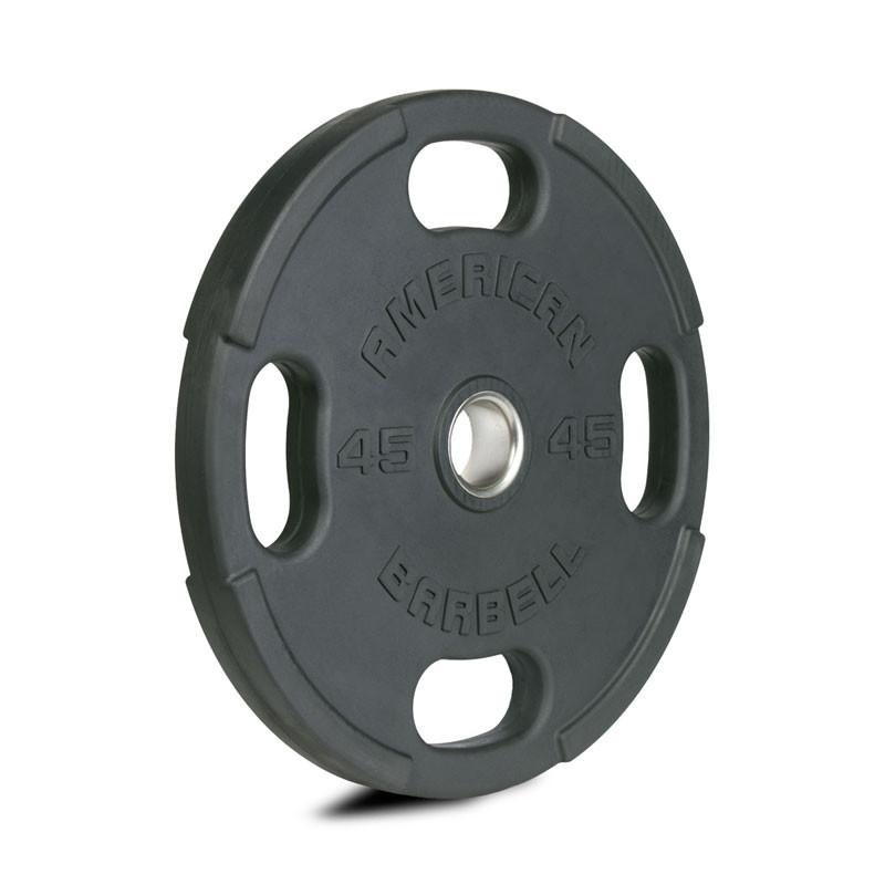 American Barbell OLYMPIC PLATES:  Rubber with 4 Slot Grip