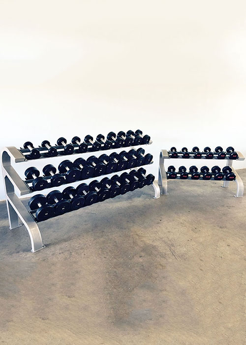 Two Tier Hex Dumbbell Rack (Long) - Muscle D