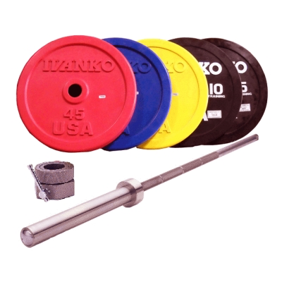Olympic Bumper Set, color, in lbs., w/OB-20KG