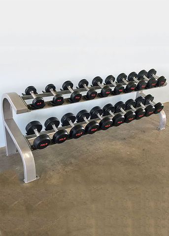 Two Tier 10 Pairs Dumbbell Rack - Muscle D