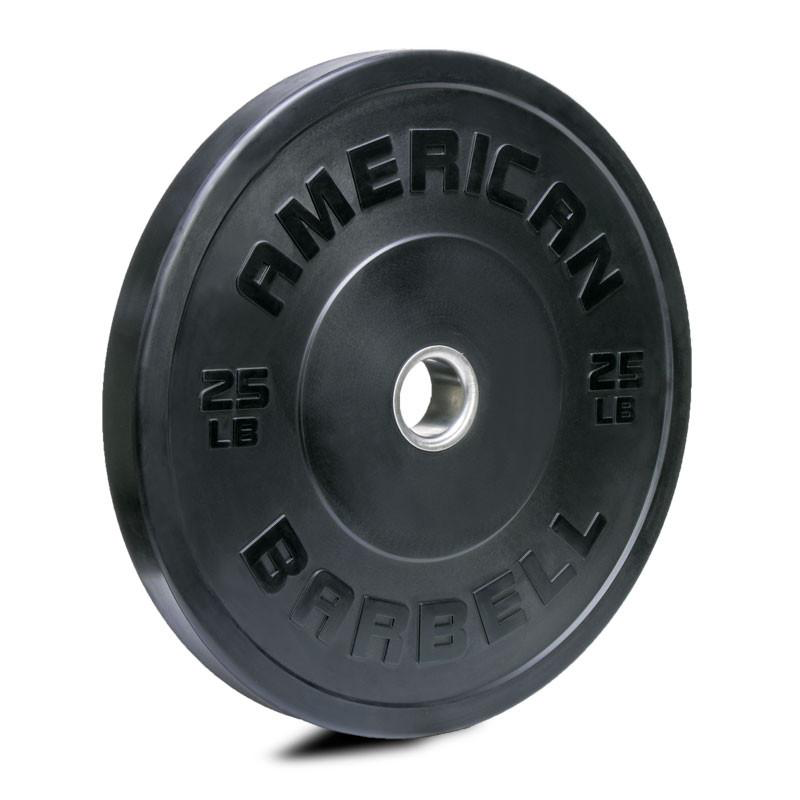 American Barbell BLACK Rubber Sport Training Bumper (LB)