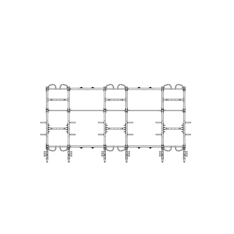 Torque X-SIEGE - 24 X 10 Foot Siege Storage Combination Rack - X1 Package