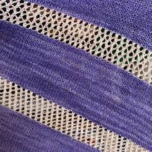 Load image into Gallery viewer, Serendipity Shawl Kit in Purple and Beige, close-up