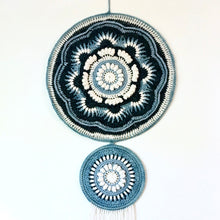 Load image into Gallery viewer, Full image of the Ravenna Mandala Wall Art in Eco-Fusion Yarn by Nurturing Fibres