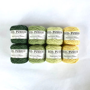 Meadows Colorway Kit, in Nurturing Fibres' Eco-Fusion Yarn