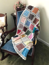 Load image into Gallery viewer, BonnieBay's Bonbon Blanket on chair closeup