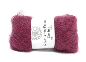 Nurturing Fibres Kid Silk Lace in Claret