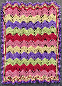 Betty McKnit's 6 Day Baby Blanket re-imagined in Nurturing Fibres Girl Version