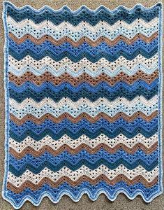 Betty McKnit's 6 Day Baby Blanket re-imagined in Nurturing Fibres Boy Version