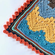 Load image into Gallery viewer, Betty McKnit's 6 Day Baby Blanket re-imagined in Nurturing Fibres Gender Nuetral Version