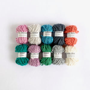 Eco-Bonbons by Nurturing Fibres in Eco-Fusion, assorted colors, packs of 10