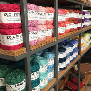 Nurturing Fibres Eco-Fusion Yarn comes in so many colors!