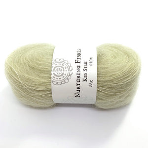 Nurturing Fibres Kid Silk Lace in Pear