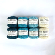 Load image into Gallery viewer, Midnight Sky Colorway Kit, in Nurturing Fibres' Eco-Fusion Yarn