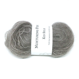 Nurturing Fibres Kid Silk Lace in Driftwood