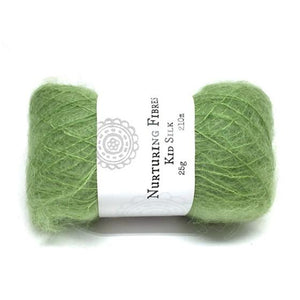 Nurturing Fibres Kid Silk Lace in Nori