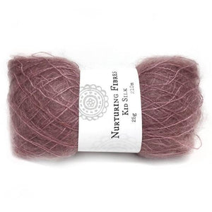 Nurturing Fibres Kid Silk Lace in Sangria