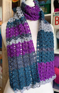 Four Seasons Scarf Kit | A crocheted pattern by Bizzy Crochet