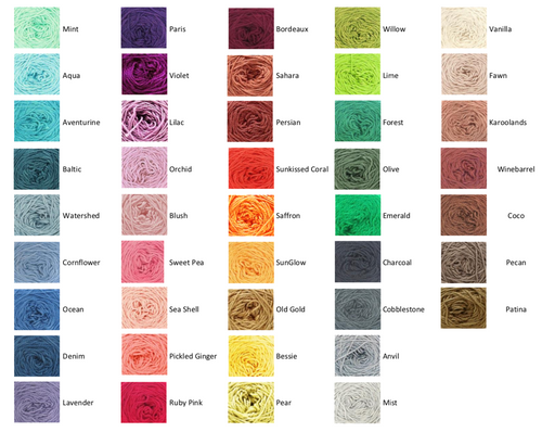 Nurturing Fibres Eco Color Chart : Eco-Bonbon Full Color Packs