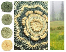Load image into Gallery viewer, Meadows Colorway Collage, in Nurturing Fibres' Eco-Fusion Yarn