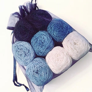 Midnight Sky Colorway Kit, in Nurturing Fibres' Eco-Fusion Yarn