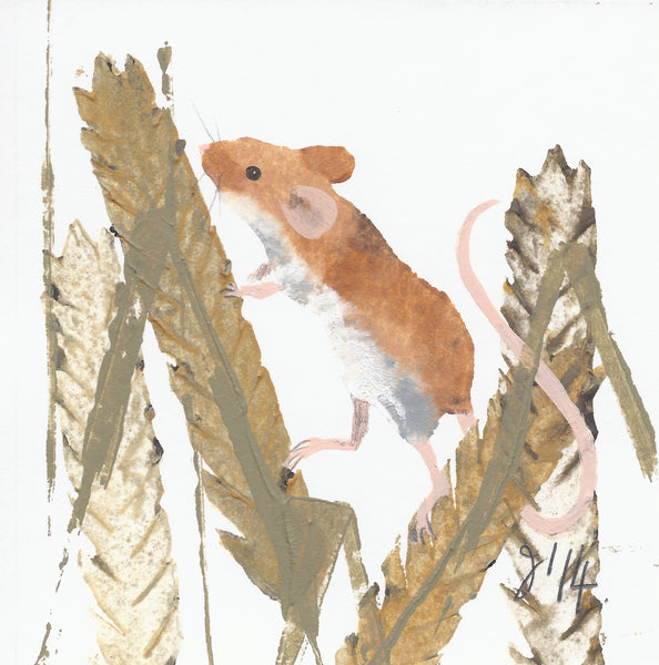 Note Card Wallet: Wood Mouse & Harvest Mouse