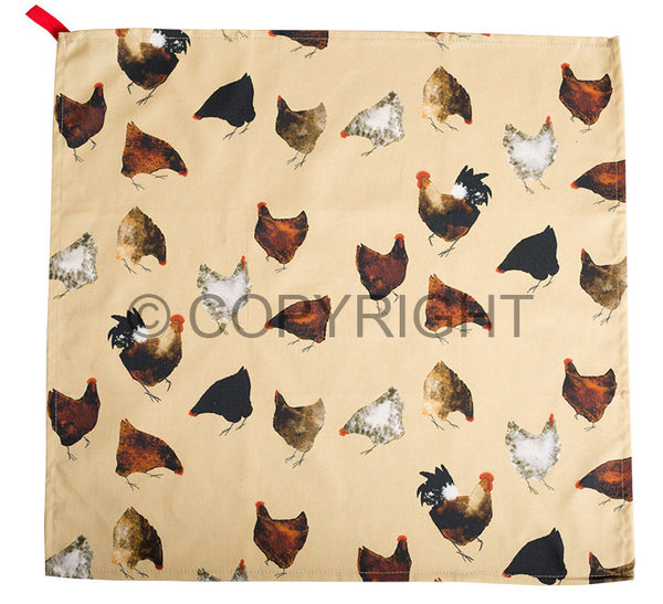 OUT OF STOCK Hens Tea Towel