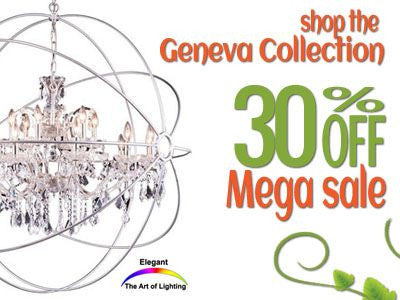 Shop Elegant Lighting Geneva Collection 30% Off Sale