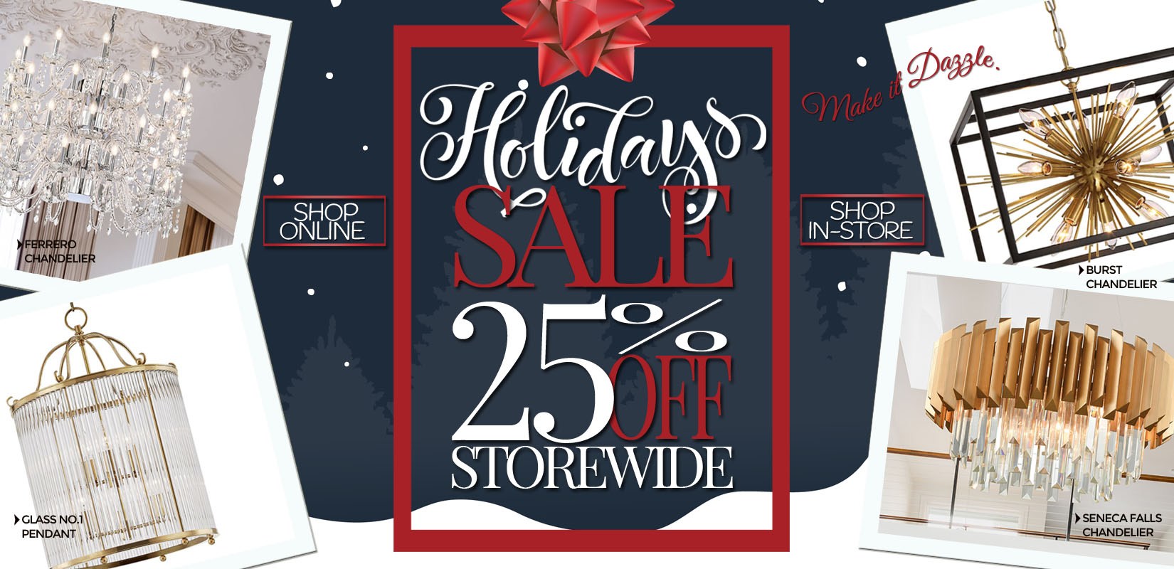 Shop Holiday Sale at Lighting Originals Canada - Canada's Lighting Store - 30% OFF
