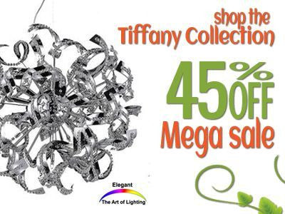 Shop Elegant Lighting Tiffany Collection 30% Off Sale