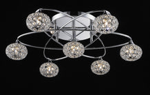"Buy Lighting Originals Jewel Collection 23"" wide Chrome Star Crystal Ceiling Light From Lighting Originals"