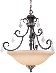 1-1539511350-4 Dolan Florence Collection Four Light Chandelier with Crystal Octagons
