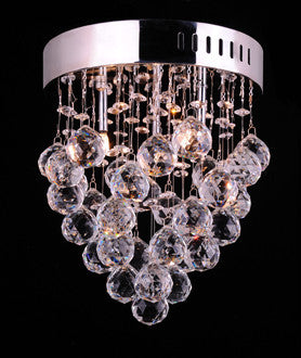 Crystal Ball Cascade Contemporary Ceiling Light
